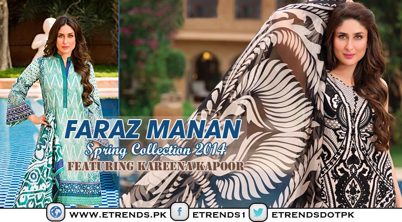 FARAZ MANAN Crescent Lawn 2014 Featuring Kareena Kapoor