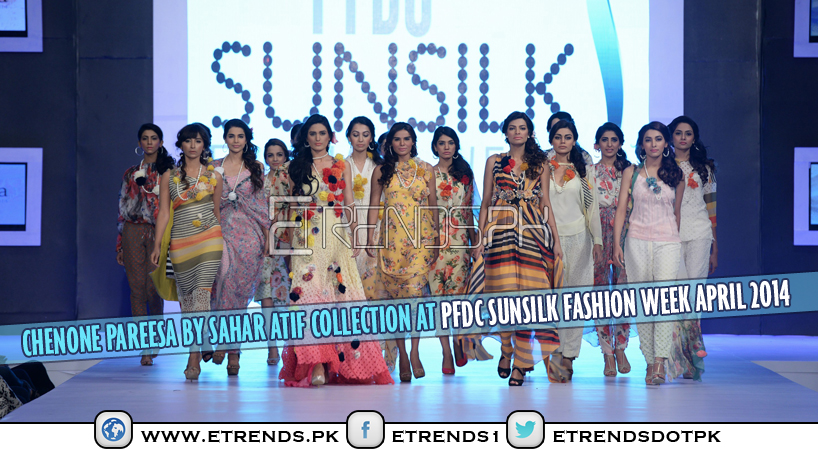 Chenone Pareesa By Sahar Atif Collection at PFDC Sunsilk Fashion Week April 2014