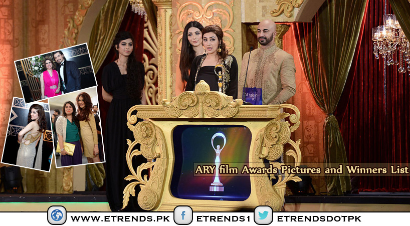 The 1st ARY Film Awards 2014 celebrate Pakistani Film Industry (Winners List and Pictures)