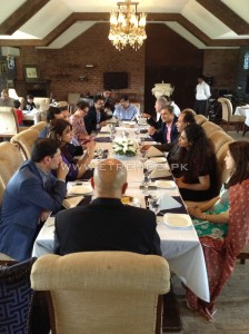 Official Lunch with Norwegian delegates at Polo Lounge Lahore 1