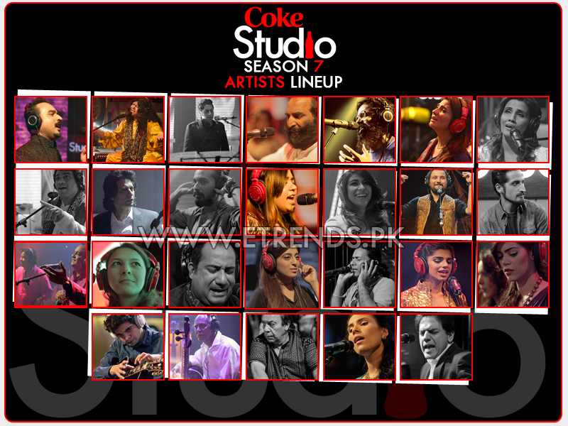 Coke Studio Season 7 Artists lineup announced - Sound of the Nation