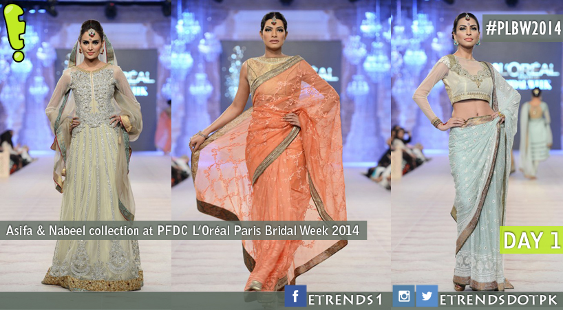 Asifa & Nabeel collection at PFDC L'Oréal Paris Bridal Week 2014