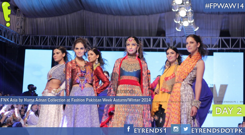 FNK Asia by Huma Adnan Collection at Fashion Pakistan Week Autumn/Winter 2014