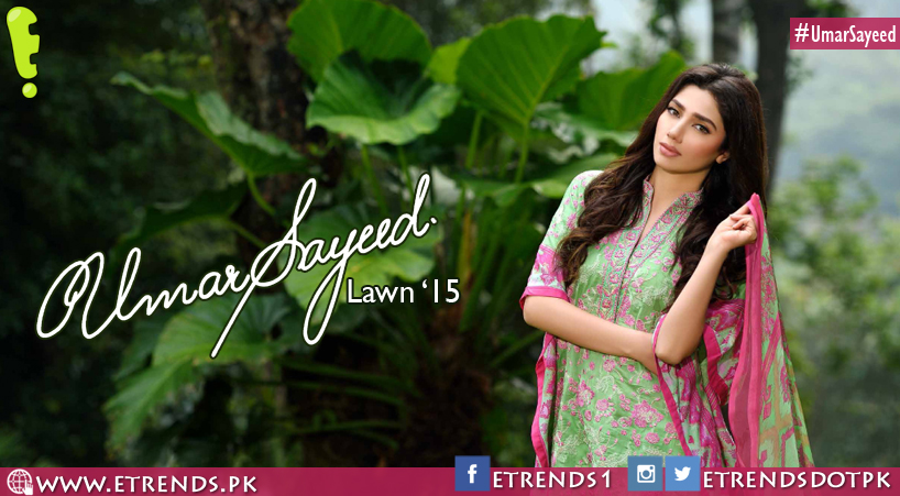 Umar Sayeed Lawn Collection 2015 by Imperial Textiles featuring Mahira Khan