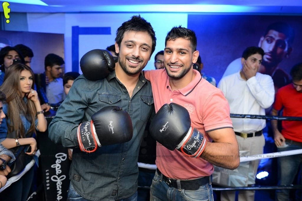CEO Pepe Jeans Pakistan Saad Javed Akram with Boxing Champion Amir Khan_1024x683
