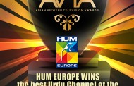 HUM RECEIVES BEST URDU CHANNEL AWARD AT THE ASIAN VIEWERS TELEVISION AWARDS 2015