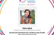 "Youth Icon Sidra Iqbal to Moderate Panel Discussion on ""Educating for Peace: Schooling in an Age of Conflict"" at School of Tomorrow Festival 2015"