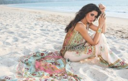 Shehla Chatoor Luxury Lawn Collection 2016 by Shariq Textiles featuring Nargis Fakhri
