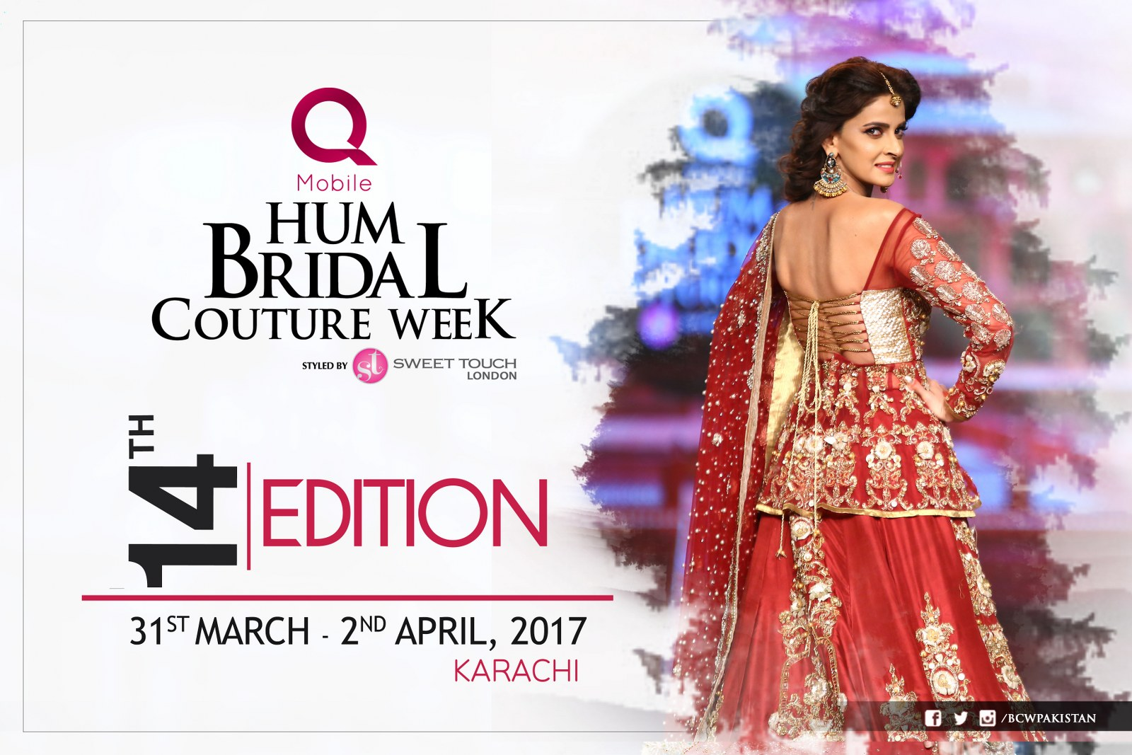 Hum Network announced the dates for 14th Bridal Couture Week 2017