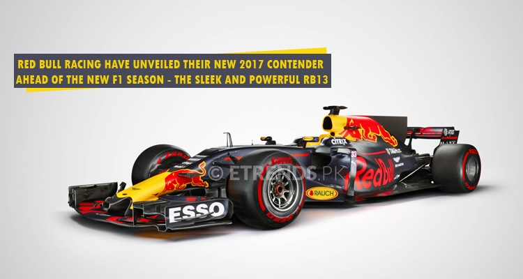 Red Bull Racing have unveiled their new 2017 contender  ahead of the new F1 season - the sleek and powerful RB13