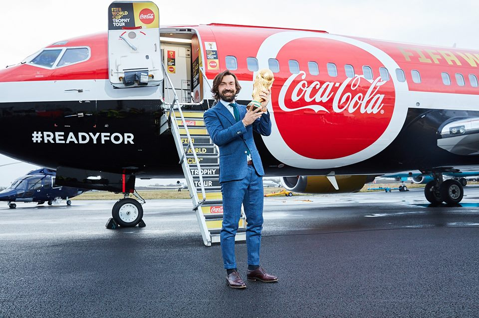 Fifa World Cup 2018 Trophy is coming home! Are you ready? Cheers Coca-Cola!